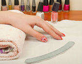Manicure table — Stock Photo