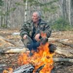 Man at bonfire 1 — Stock Photo #12361447