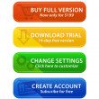 Colorful web buttons with icons — Stock Photo
