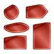 Set of Red Labels with Rounded Corners — Stock Photo