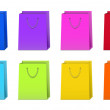 Set of Colorful Shopping Bags - Stock Photo