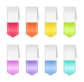 Bookmarks in Pastel Colors — Stock Photo