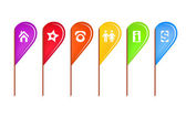 Colorful Map Pins — Stock Photo