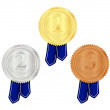 Gold, Silver and Bronze Medal — Stock Photo