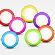 Background with Colorful Cirles — Stock Photo