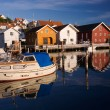 Fjallbacka village by the swedish west coast - Stock Photo