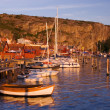Beutiful village by the swedish west coast - Stock Photo