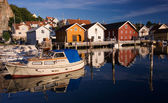 Fjallbacka village by the swedish west coast — Stock Photo