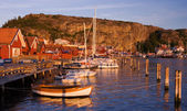 Beutiful village by the swedish west coast — Stock Photo