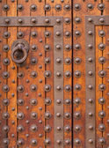 Old medieval wooden door — Stock Photo