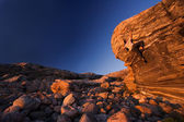 Climber reaching towards the top — Stock Photo