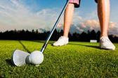 Closeup shot of golf ball — Stock Photo