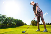 Male golf player — Stock Photo