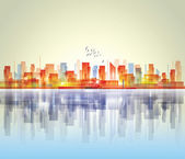City landscape — Vector de stock