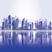 Skyline der Stadt — Stockvektor