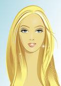Beautiful Woman Face — Stock Vector
