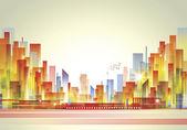 Staden landskap — Stockvektor