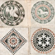 Gothic inlaid marble ornaments — Stock Photo