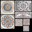 Inlaid marble medieval Gothic ornaments — Stock Photo