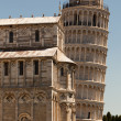 Pisa Cathedral and the leaning tower — Stock Photo