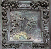 Fragment of the Pisa Cathedral bronze main doors — Stock fotografie