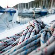 Close-up of a mooring rope on a modern yacht. — Stock Photo #12406783