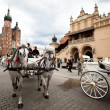 The historical center of Krakow - Stock Photo