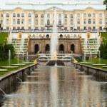 Peterhof Grand Cascade in St.Petersburg, Russia — Stock Photo