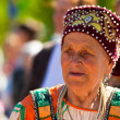 Local during celebrate the annual holiday Vepsian national culture Tree of Life (vepssk.Elo-pu) — Stock Photo