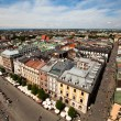 View of the old town of Cracow, old Sukiennice in Poland. (World Heritage Site by UNESCO) — Stock Photo