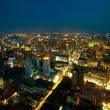 Panorama of Bangkok in night time. — Stock Photo