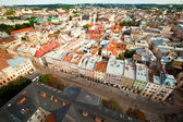 Top view from of the city hall in Lviv Ukraine — Stock Photo