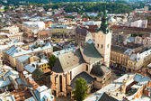 Top view of the Cathedral in Lviv, Ukraine. — Stock Photo
