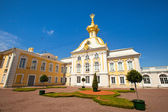 Westseite des Peterhof Palace, St. Petersburg, Russland — Stockfoto