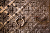 Old door with ornament in Royal Wawel Castle, Kracow, Poland. — Stock Photo