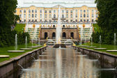 Peterhof Grand Cascade in St.Petersburg, Russia — Stock Photo