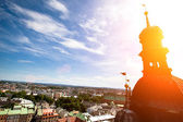 View of the old town of Cracow from Church of Our Lady Assumed into Heaven (St. Mary's Church), Poland. — Stock Photo