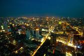Panorama of Bangkok in night time. — Stock Photo