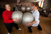 Day of Health in Center of social services for pensioners and disabled Otrada — Stock Photo
