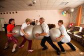 Den zdraví v centru sociálních služeb pro důchodce a ztp otrada — Stock fotografie