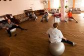 Dia da saúde no centro de serviços sociais para os reformados e deficientes otrada — Foto Stock