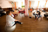Day of Health in Center of social services for pensioners and disabled Otrada — ストック写真