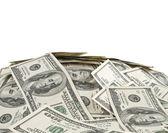 Große haufen geld. stapel von us-dollar