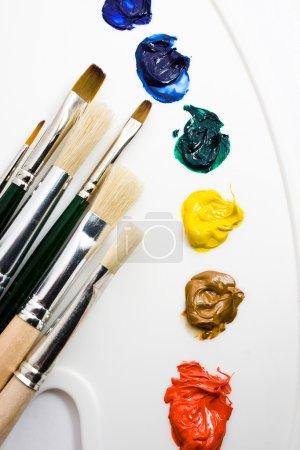 Постер, плакат: Artists tools, холст на подрамнике
