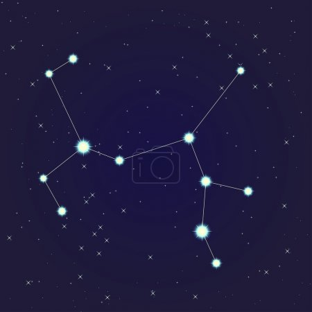 Постер, плакат: Sagittarius constellation, холст на подрамнике