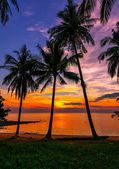 Evening on the beach of the island of Koh Chang in Thailand