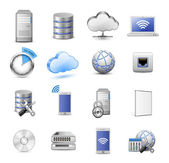 Cloud Computing Icon Set 16 highly detailed vector icons Servers databases network devises and cloud computing concept