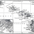 Постер, плакат: Map of Archipelago Hawaii