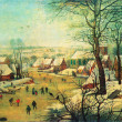 Постер, плакат: Peter Bruegel the Younger Winter Landscape