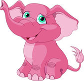 Very Cute pink elephant